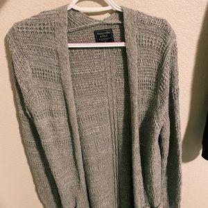Grey Abercrombie & Fitch Cardigan
